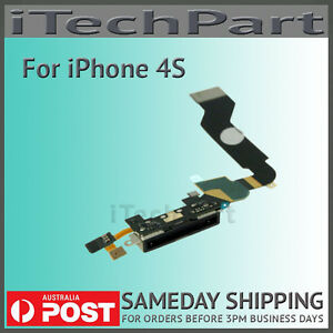 USB Dock Connector Charger  Flex Cable Replacement Parts for iPhone 4S Black