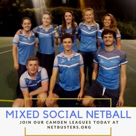 Play Social Mixed Netball in Camden!