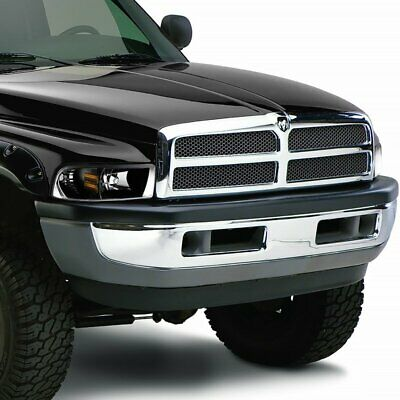 FIT DODGE RAM 1500 2500 3500 TRUCK BLACK HOUSING 1-PIECE STYLE HEADLIGHTS LAMPS
