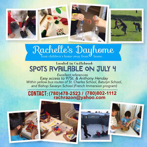 2 spots available in Castlebrook dayhome