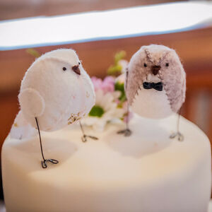 Unique wedding cake topper  - Hand crafted locally, free postage