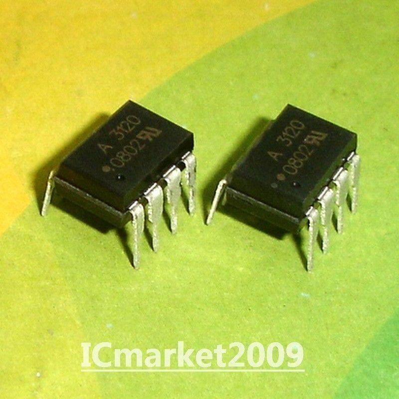 10 PCS HCPL-3120 DIP-8 HCPL3120 A3120 2.0 Amp IGBT Gate Drive Optocoupler