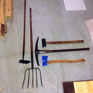 Fine Classic Restored Tools Sweden Axe, etc