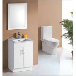 600mm vanity Ceramic top / Stone & undermount or counter basin