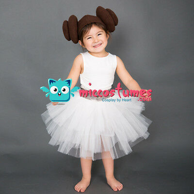 Child Halloween Cosplay Costume Inspired by Princess Leia Organa](Baby Princess Leia Halloween Costume)