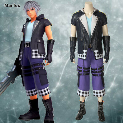 Kingdom Hearts 3 Cosplay Riku Costume Game Fancy Dress Outfits Halloween - Kingdom Hearts Costumes Halloween