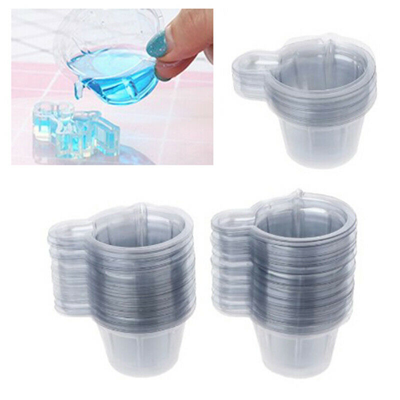 100Pcs 40ML Plastic Disposable Cups Dispenser For DIY Epoxy