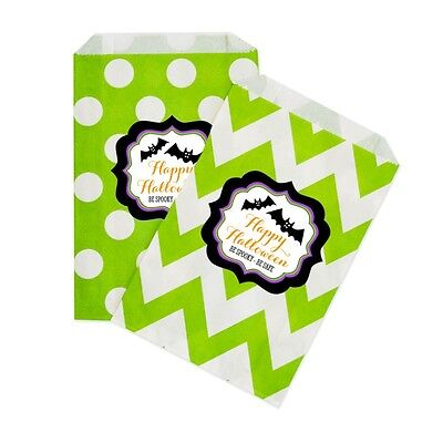 Spooky Halloween PERSONALIZED Halloween Party Favor Goodie Bags - lot of 36