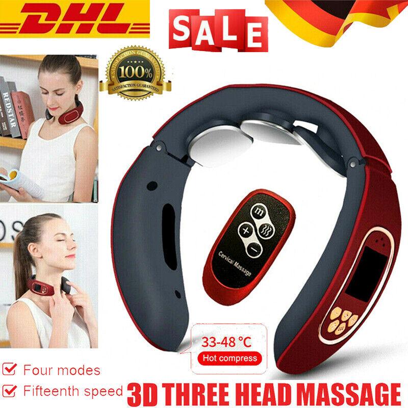 3D Massagegerät Nacken Schulter Elektrisch Massager Halswirbel USB Wärmefunktion