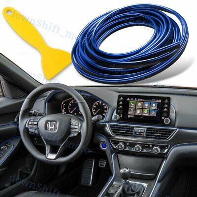Car Interior Edge Gap Line Moulding Trim Molding Strip Auto Decor -16ft/5M Blue