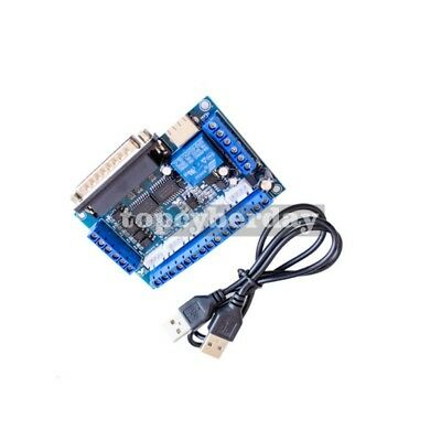 5-axis Stepper Motor Driver Interface Breakout Board Controller Cnc Mill Mach3