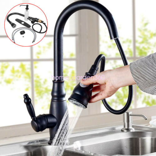 Home Swivel Spout Kitchen Sink  Faucet Finish Nickel Pull Ou