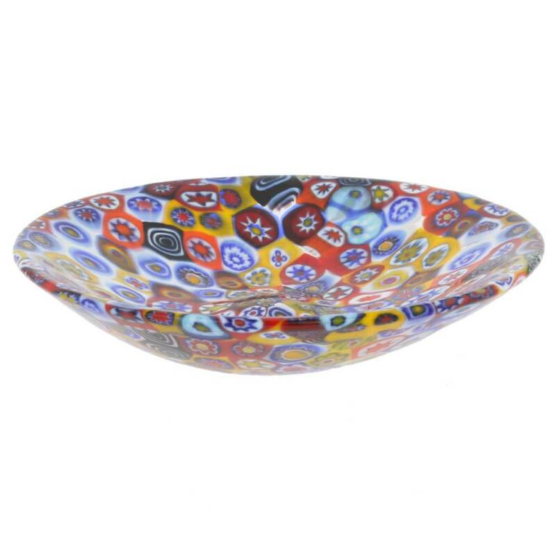 GlassOfVenice Murano Glass Millefiori Plate - Multicolor