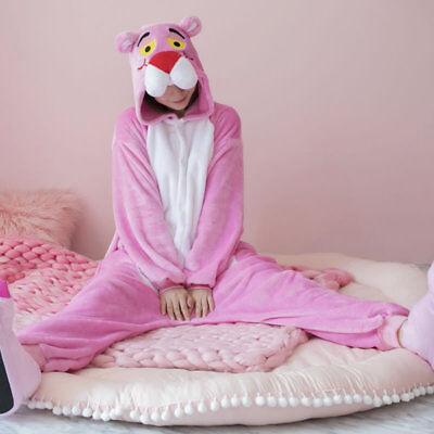 Unisex Pink Panther Cosplay Pajamas Kigurumi  Adult /kids Costume Sleepwear - Kids Pink Panther Costume
