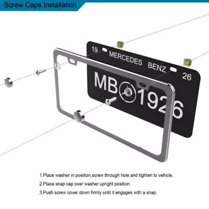 Vehicle License Plate Frames (x2) - Polished Mirror Finish Ohuhu