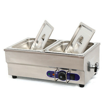 Food Warmer Restaurant Bain Marie Steam Table 6 Deep 12 Size Pans 1500w