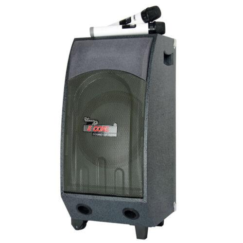 "5 Core Rechargeable 10"" Karaoke Machine System Bluetooth 2 Digital Microphone"