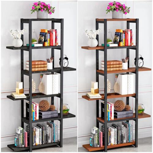 5 Tiers Book Shelf Display Unit Free Standing/Folding Book S