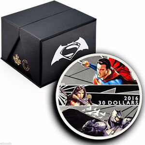 2016 Silver 2 oz. BATMAN V SUPERMAN: DAWN OF JUSTICE $30 Coin