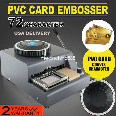 72-character Letters Manual Embosser Credit Id Pvc Card Vip Embossing Machine Us