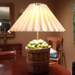 Apple Barrel Lamp