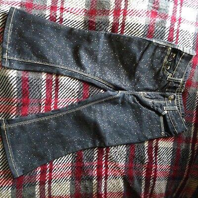 intage 24M Jeans Dark Wash Gold Trim Sparkle Jeans New (Mädchen Sparkle Boots)