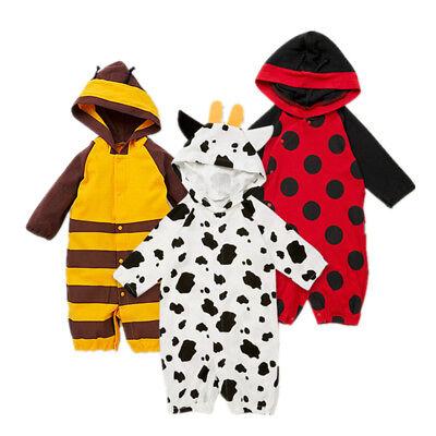 Baby Kleinkind kostüm Karneval Tier Marienkäfer Biene Kuh ()