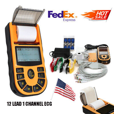 Handheld Ecg Electrocardiograph 1 Channel 12 Lead Ekg Digital Machinepc Sw Usa