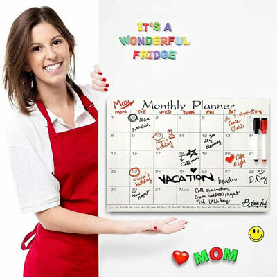 Fridge Wall Dry Erase Memo Board Magnetic Planner Board Monthly Calendar Sticker
