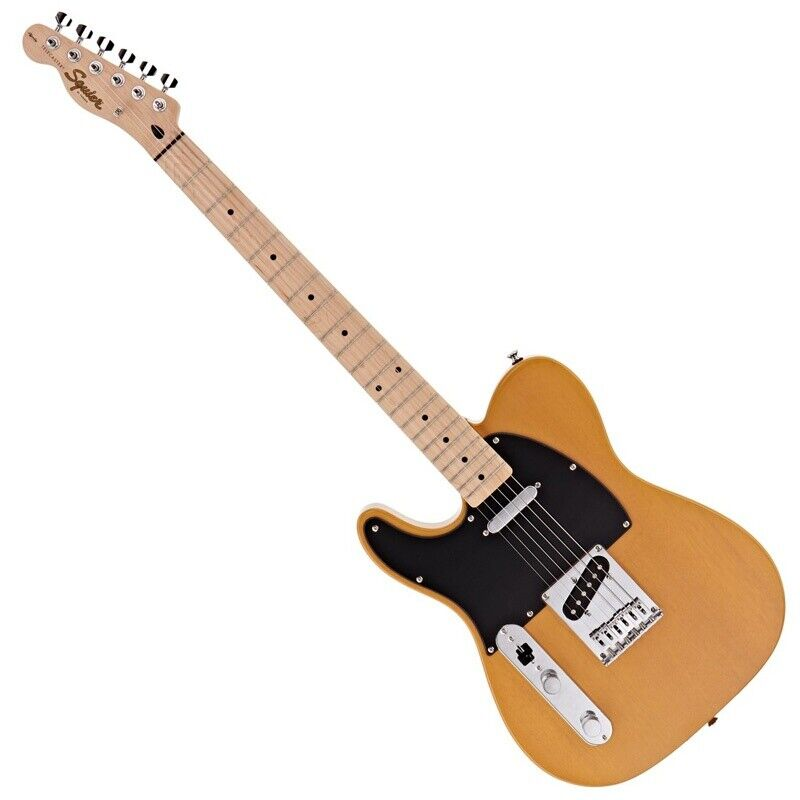 Fender Left Handed Electric Guitar, Squier Affinity Telecaster, Butterscotch ...