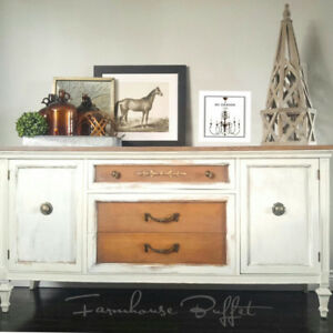 VINTAGE FARMHOUSE BUFFET/SIDEBOARD
