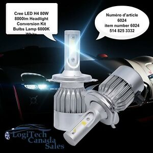 Cree LED H4 80W 8000lm Headlight Conversion Kit Bulbs Lamp 6000K