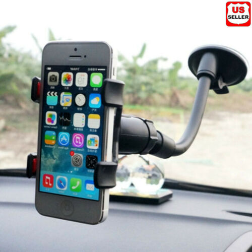 360° Car Windshield Mount Cradle Holder Stand For Mobile Ce