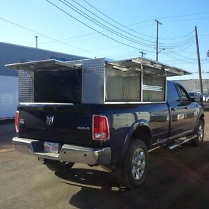 Highside Aluminum Canopy Service Body for 8' box Ford GMC Dodge
