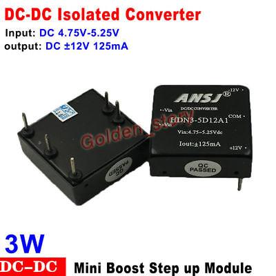 Dc-dc Boost Step Up Isolated Volt Converter Dc 5v To 12v 125ma Mini Regulator