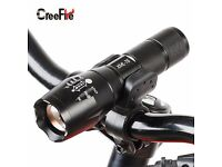 XM-L T6 led 2000Lumens Zoomable Flashlight Torch - FREE BIKE HOLDER CLAMP