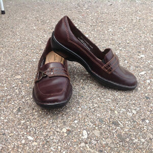 Clarkes Chocolate Brown Leather Loafers