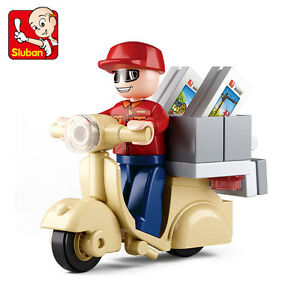 LEGO-COMPATIBLE: SCOOTER + MINI-FIGURE - NEW!!!
