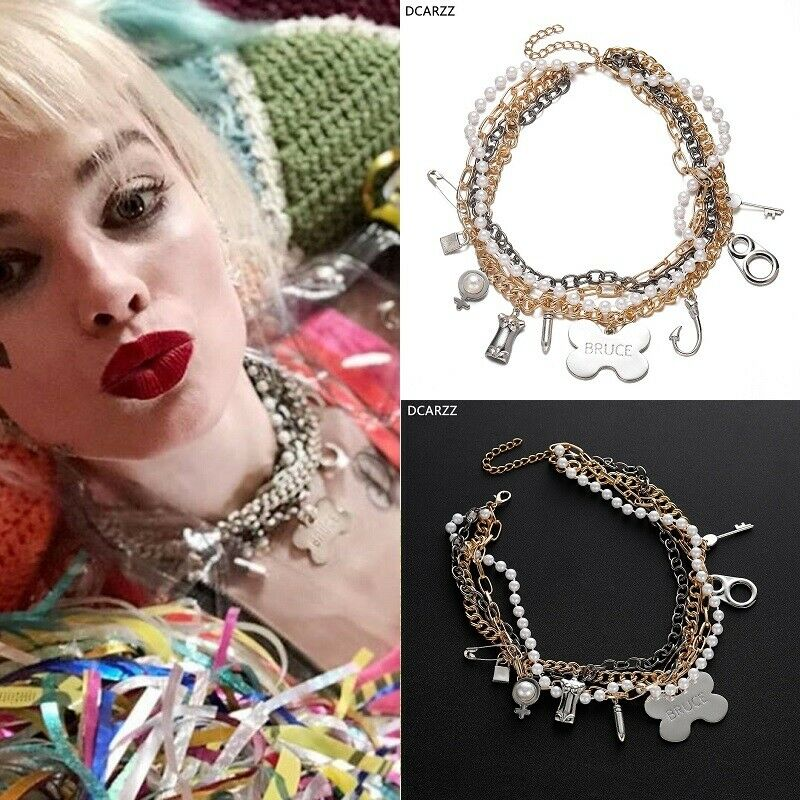 Birds Of Prey Harley Quinn Bruce Pendant Necklace Choker Margot Robbie Cosplay Ebay