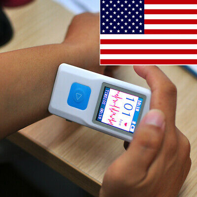 Handheld Portable Ecg Ekg Machine Lcd Heart Beat Monitor Bluetoothusbsoftware