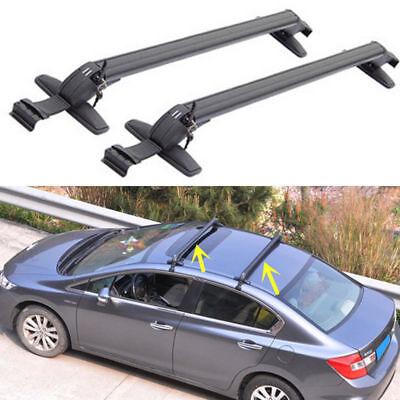 2pcs Car Top Roof Rack Cross Bar Set Luggage Carrier Adj.Window Frame Anti Theft