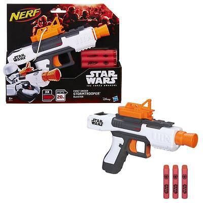 Hasbro B3171 Nerf Star Wars E7 Stormtrooper First Order Blaster Pistole 3 Pfeile