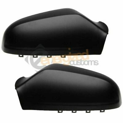 Car Parts - Vauxhall Astra H 2004-2009 Wing Mirror Covers Casings Black Pair Left & Right