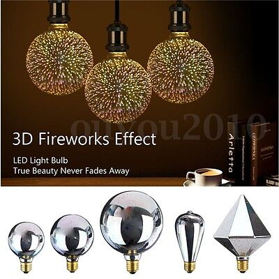3D Fireworks E27 G80/G95/G125 LED Vintage Edison Fairy Lighting Bulb Lamp - Edison Bulb String Lights