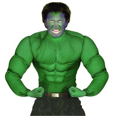 Hulk Kostüm MUSKEL SHIRT grün Superhelden Muskelkostüm Superheld - Hulk Kostüm Shirt