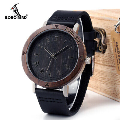 BOBO BIRD Wooden Wristwatch Black Friday Xmas Gifts For Him Men Father Son Male