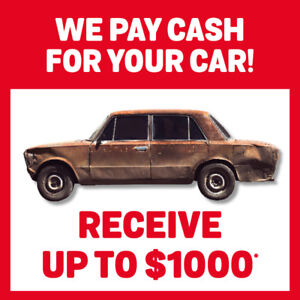 Dead or alive, we will buy it CASH! Top Cah for your scrap car!