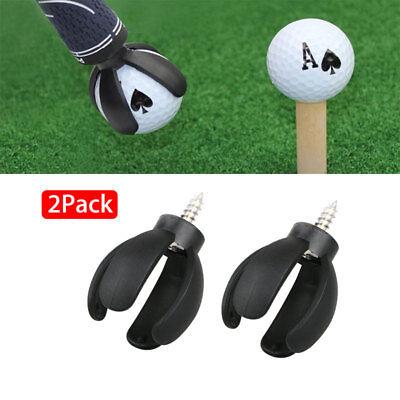 2X 4-Prong Golf Ball Pick Up Retriever Grabber Claw Sucker Tool For Putter Grip