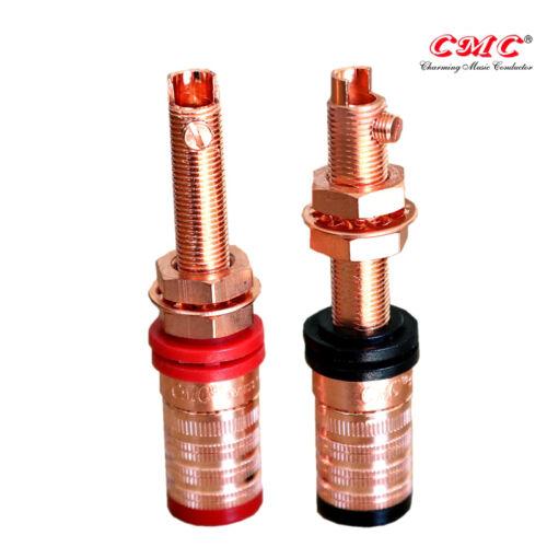 4PCS High End Performance Swiss Pure Copper Speaker Binding Post CMC-838-L-CU-R