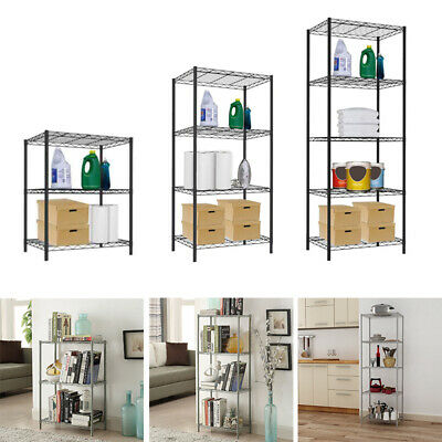 3/4/5 Tier Wire Shelving Unit Metal Shelf Storage Rack Kitchen Garage Organizers Kitchen Shelving Unit